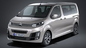 citroen spacetourer 2017 3d model