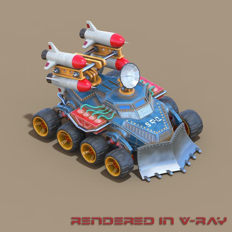 missile unit rts 3d max