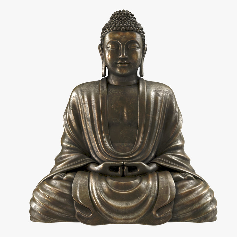 3d model sitting buddha statue