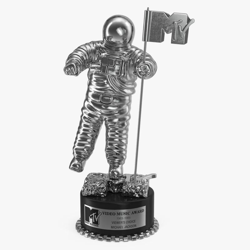 mtv trophy 3d model