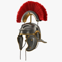 3d max roman helmet red crest