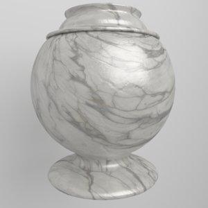 marble urn 3d obj