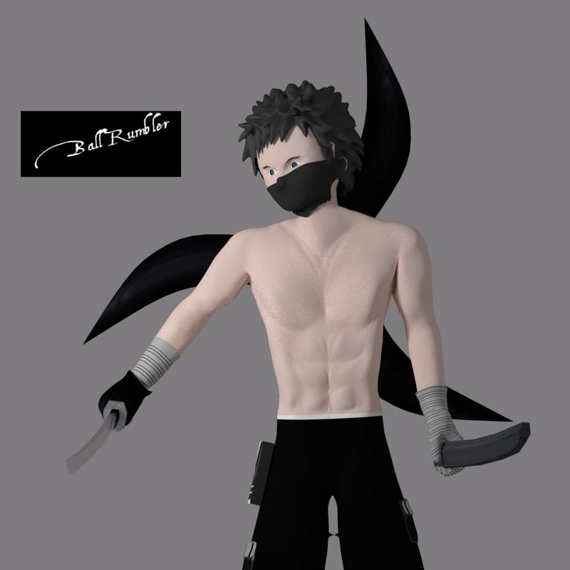 male ninja 3d model