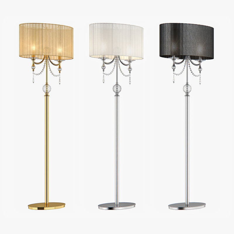 floor lamp paralume lightstar 3d max