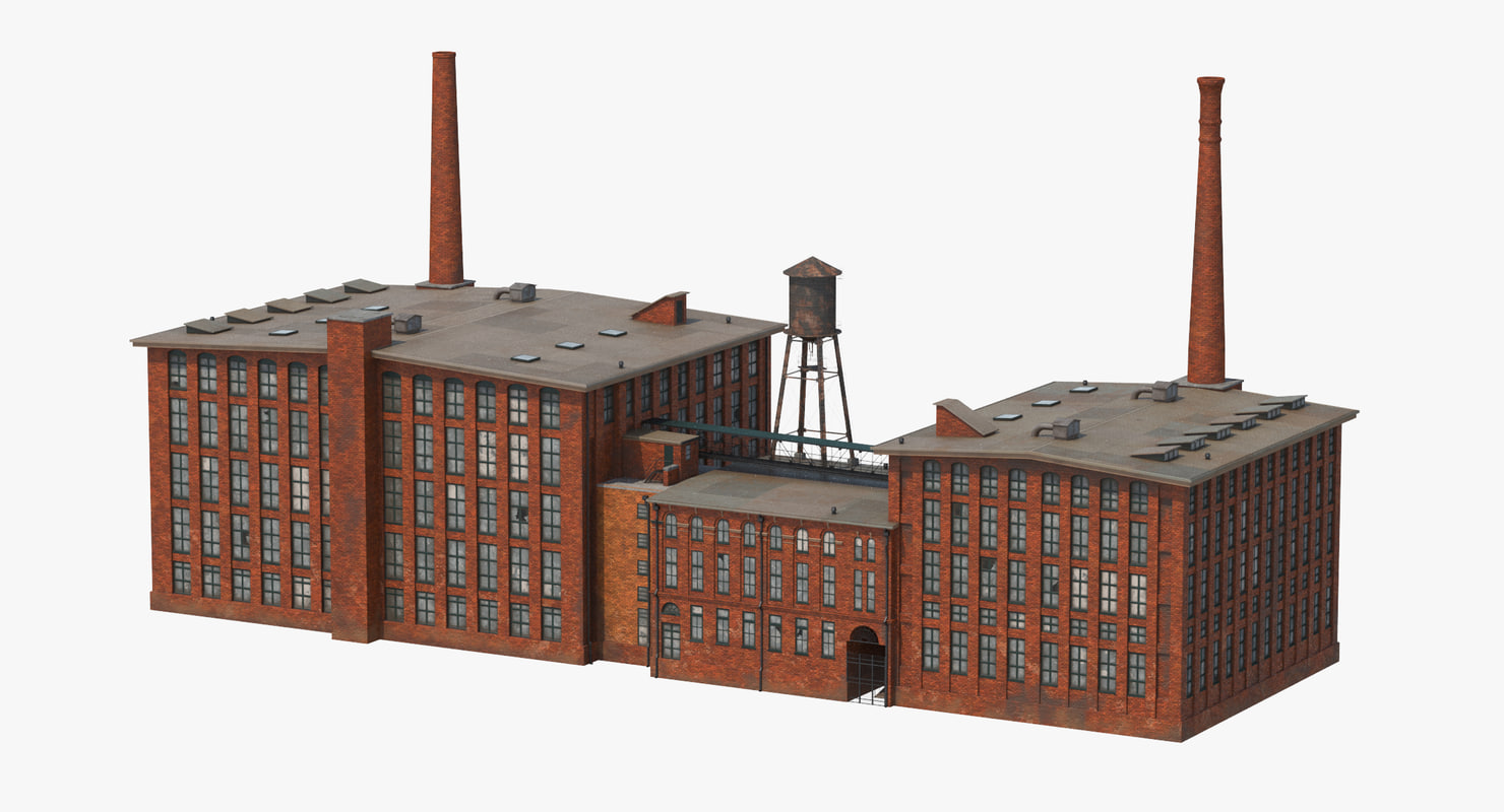 factory smokestacks c4d