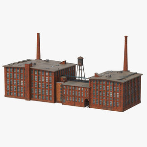 factory smokestacks c4d