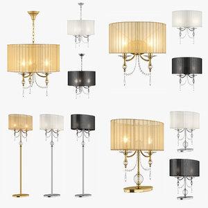 chandelier paralume lightstar lamp 3d model
