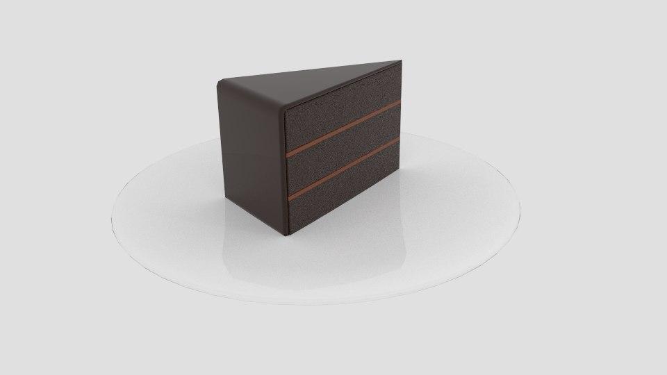 3d layer chocolate cake model