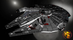 starship freighter 3d lwo