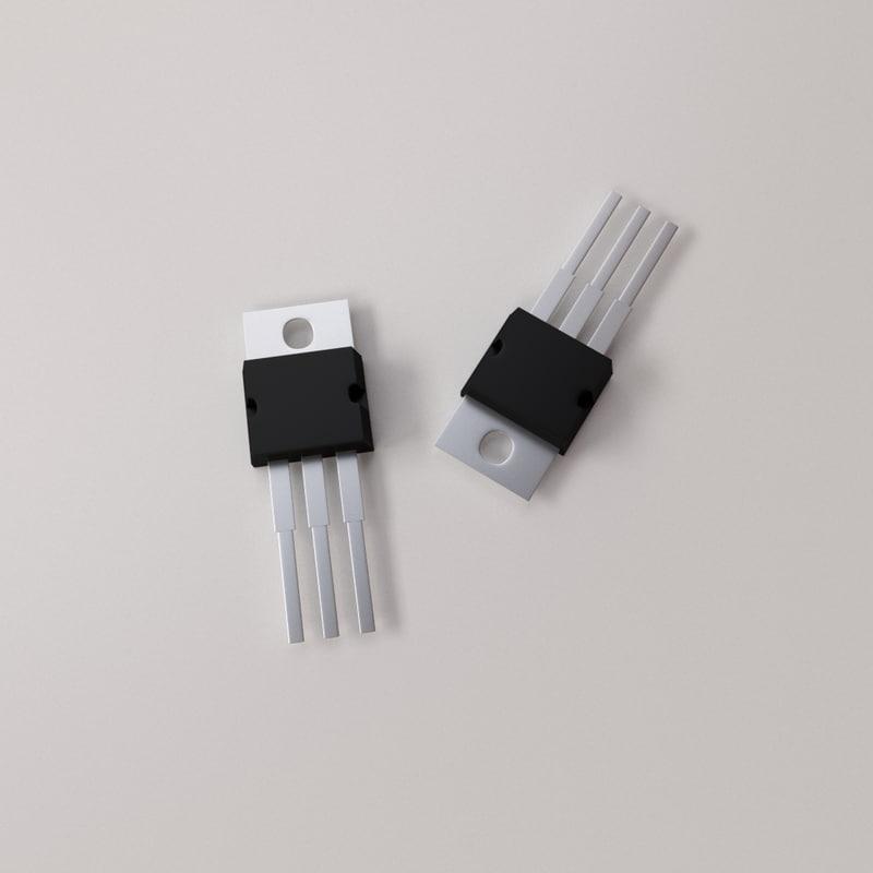 voltage regulator 3d model