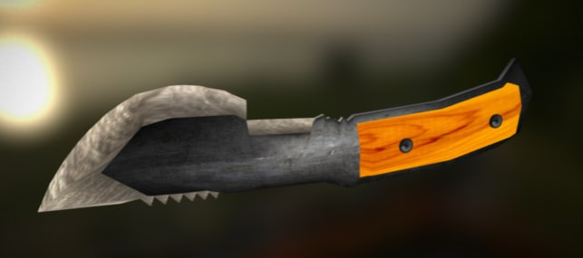 3d model of tracker knife