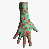 bloody gloves 3d model
