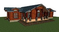 wood beam house