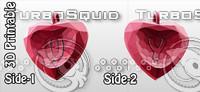 3d 3d-printable valentine crystal-heart-twoletters pendant model