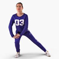 fitness woman 3dmodel