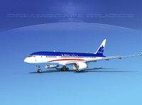 3d airline boeing 787-8 787 model