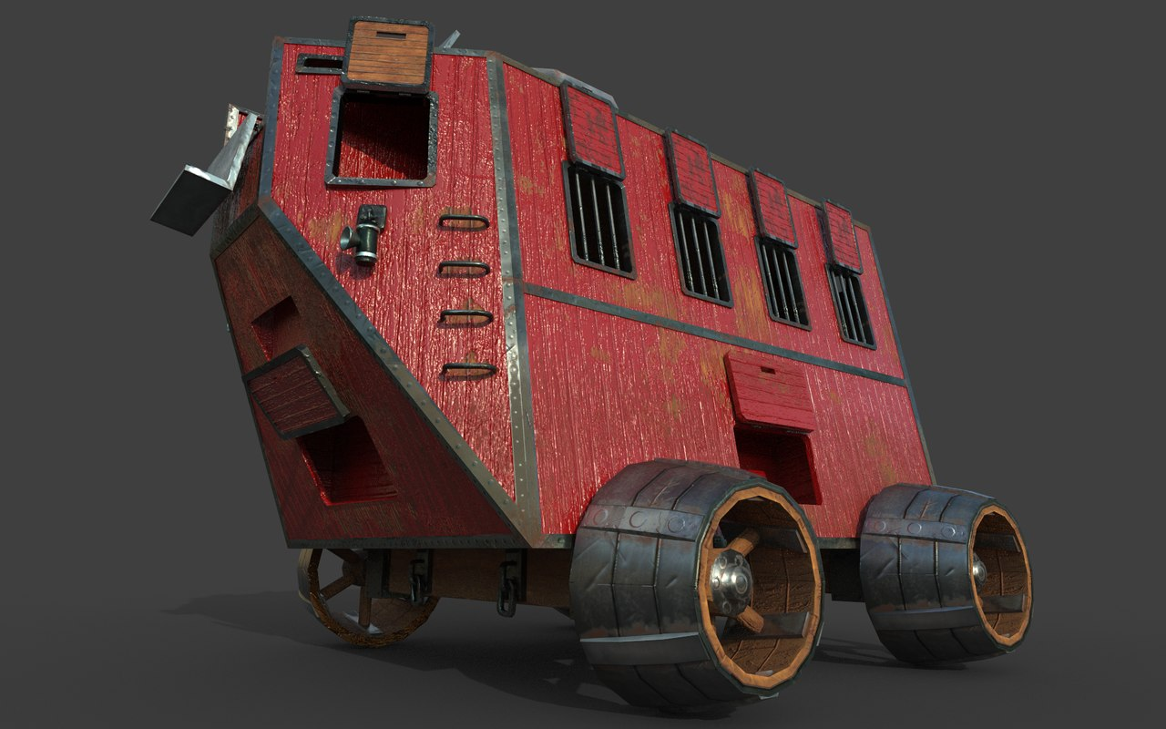 3d model carriage steampunk