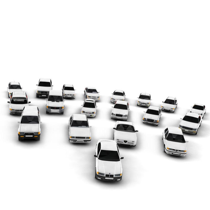3d cars pack vehicles model