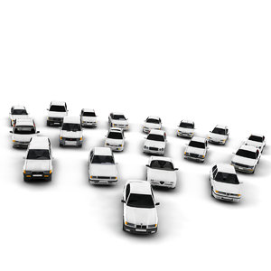 3d cars pack vehicles model