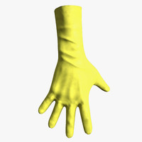 gloves gaming hand 3d max