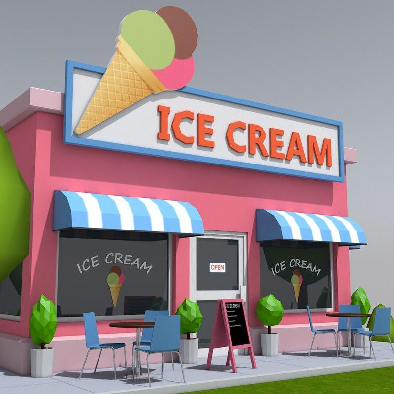 ice cream shop obj