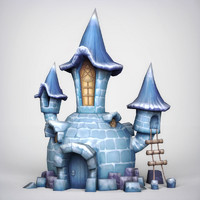 fantasy igloo 3d model