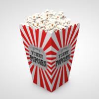 popcorn pop corn c4d