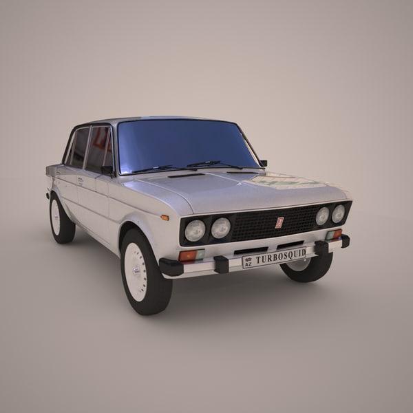 3d model car russian vaz 2106