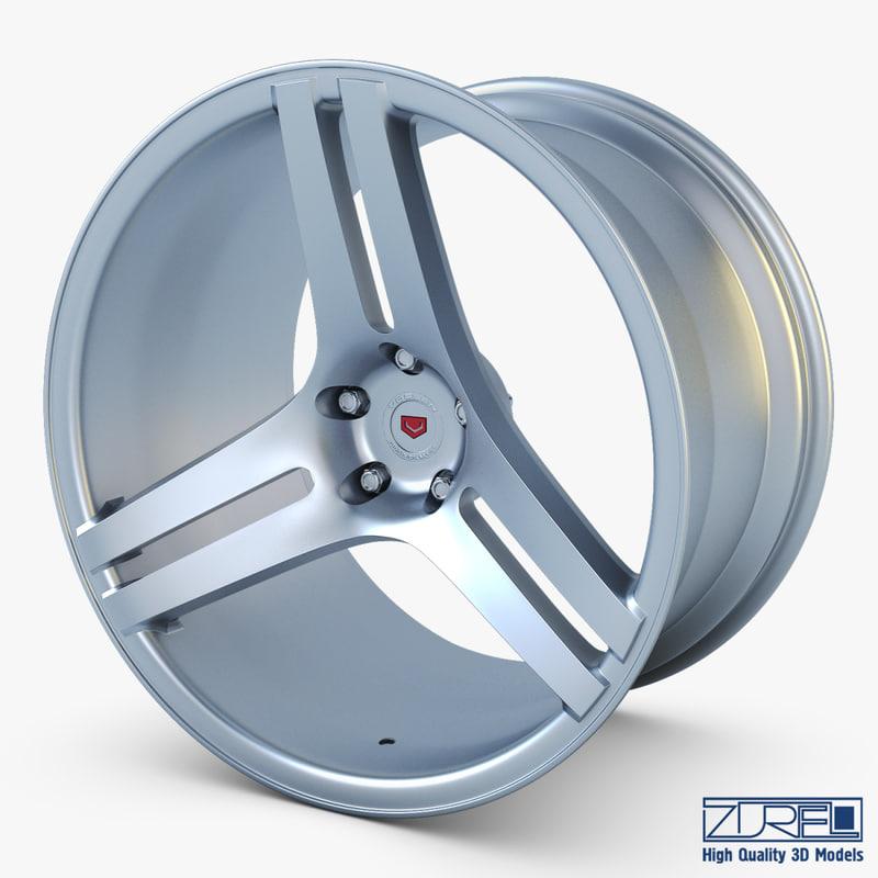 vossen vps-317 19 wheel 3d model