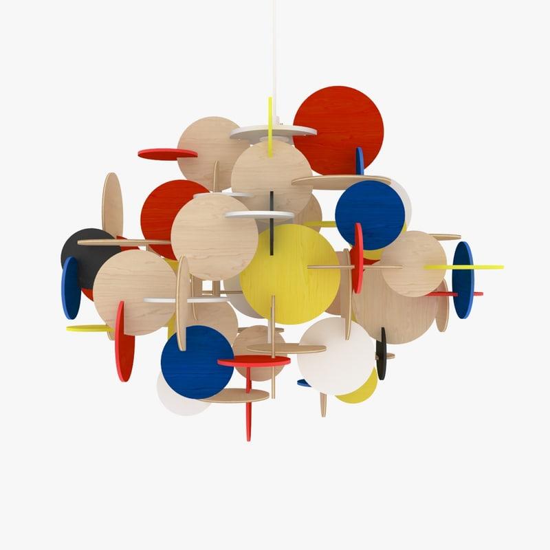 3d bau pendant hang lamp model