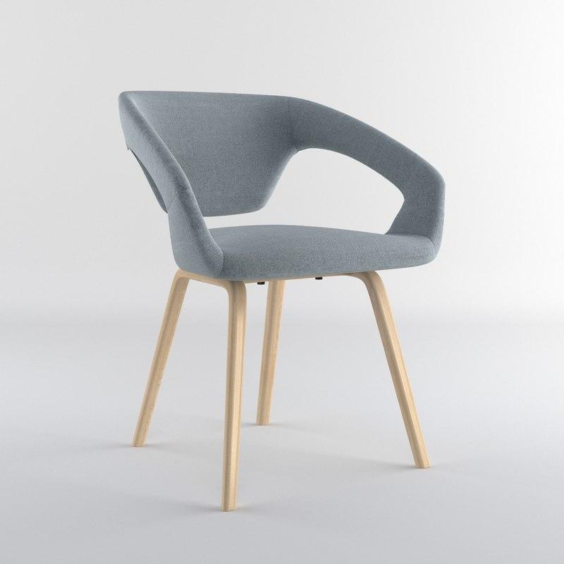3d model zuiver flexback chair