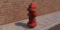 c4d hydrant asset city