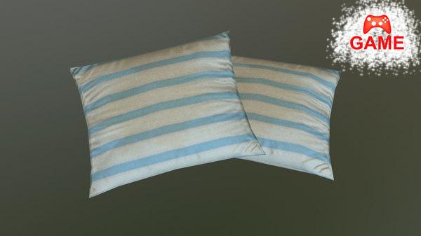 pillow pbr 3d model