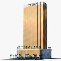 trump international hotel 3d model