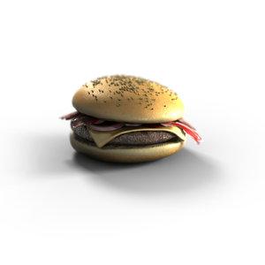 hamburger burger 3d max
