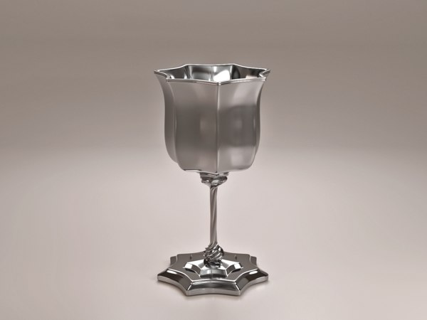 3d silver cup model