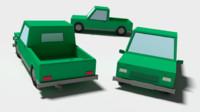 cartoon car 3ds free