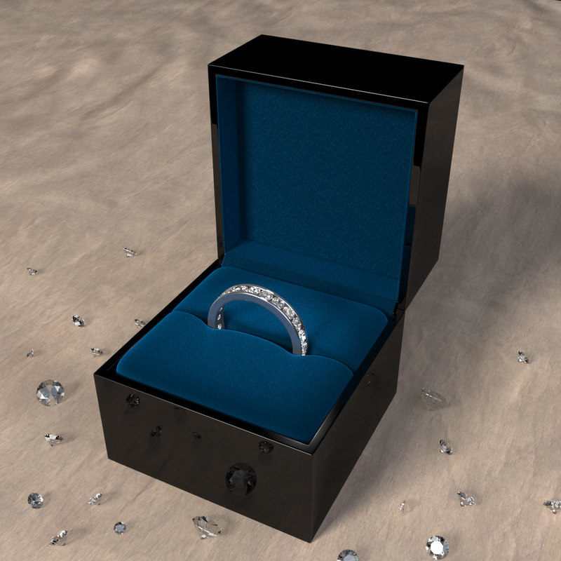 3d channel set diamond ring