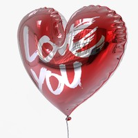 3d balloon heart valentine model