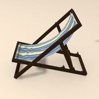 3d max beach chair