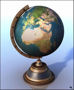 3d globe decor model
