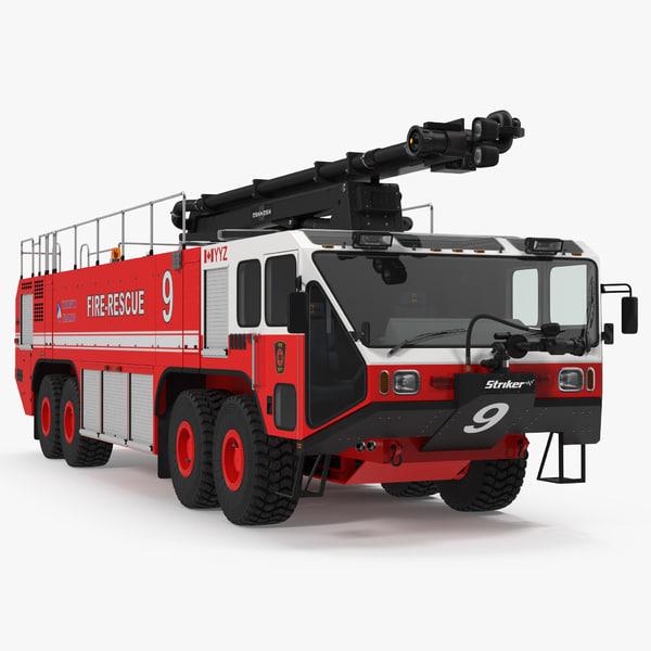 3d model oshkosh striker 4500 arff
