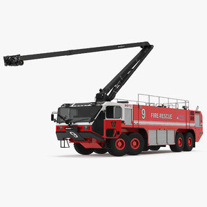 oshkosh striker 4500 arff 3d max