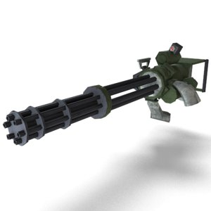 minigun gun obj
