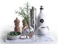 max trays bowls rosemary olive oil