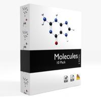molecules - 3d model