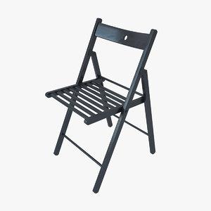 realistic ikea chair terje 3d max