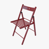 IKEA chair TERJE red