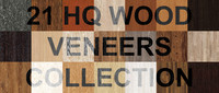 21 Wood Veneers Collection - Hi-Res Seamless Textures