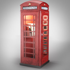 london telephone booth obj